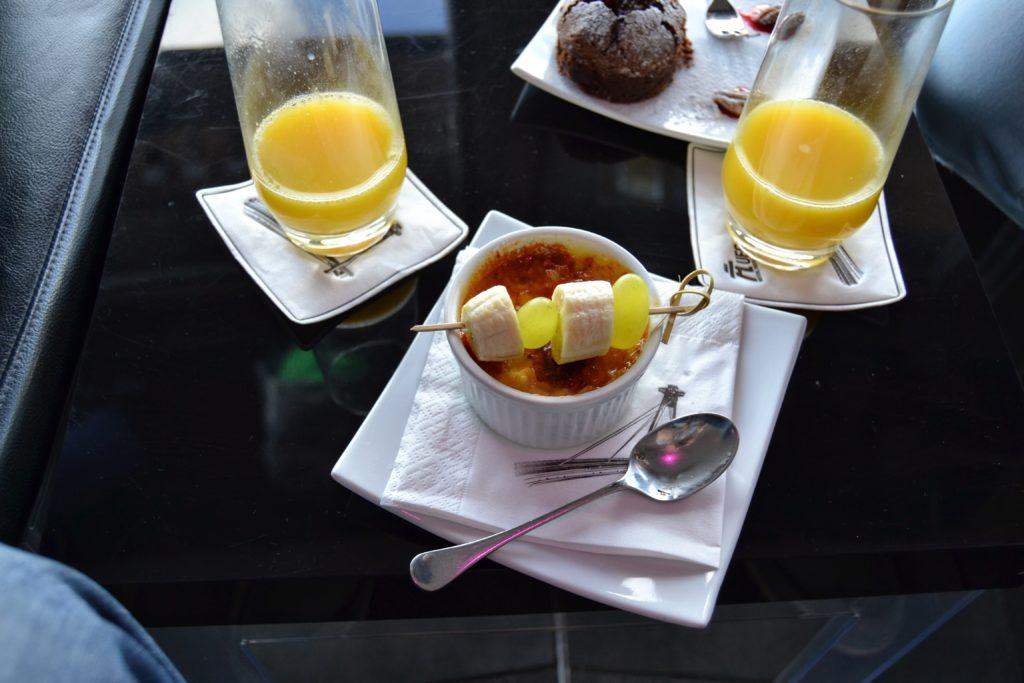 Crème brûlée v reštaurácii na Ufe
